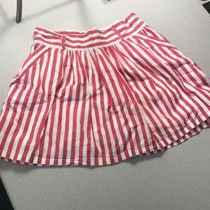 Forever 21 red and white striped skirt medium